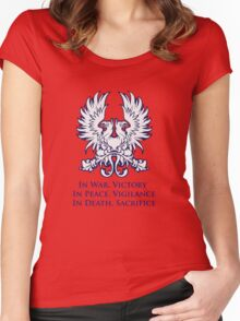In War, Victory (blue) Women's Fitted Scoop T-Shirt