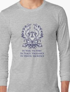In War, Victory (blue) Long Sleeve T-Shirt