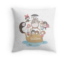 love it ghibli studio Throw Pillow