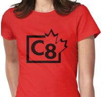 TV C8 (Canada) black Womens Fitted T-Shirt