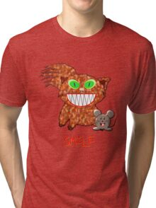 Cat and Mouse - SMILE T-shirt Tri-blend T-Shirt