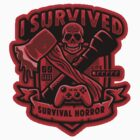 Survival Horror Crest (Sticker) by Brandon Wilhelm