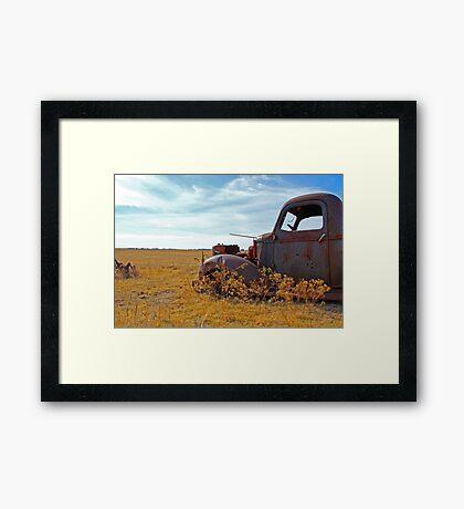 Prairie Rust Framed Print