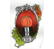 Pumpkin Head Family Portrait Poster
