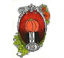 Pumpkin Head Family Portrait Photographic Print
