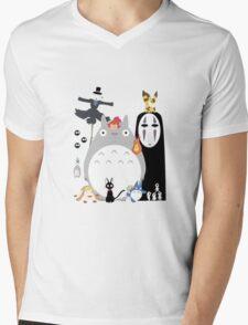Studio Ghibli Gang Mens V-Neck T-Shirt