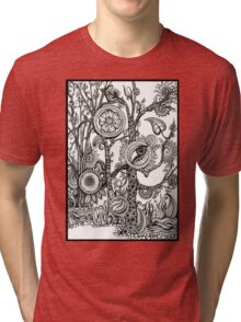 The Rainforest, Ink Tree Drawing Tri-blend T-Shirt