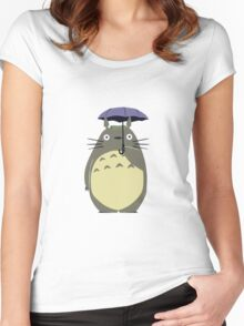 Alone Totoro Women's Fitted Scoop T-Shirt