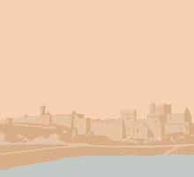 Manx Castles in Sand - Peel Castle by Vicky Webb