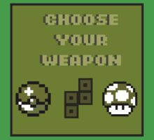 Choose Your Weapon Kids Tee