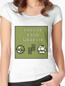 Choose Your Weapon Women's Fitted Scoop T-Shirt
