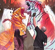 Dueling Tigers by ArtBattles