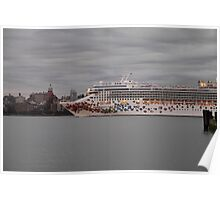 Cruise Ship Norwegian Gem On The Hudson Rv. Poster