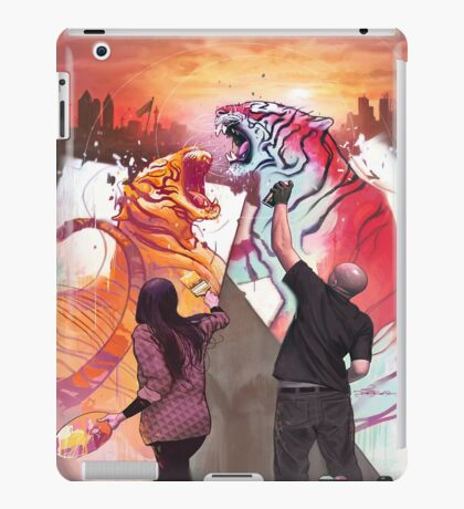 Dueling Tigers iPad Case/Skin
