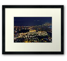 The Sacred Rock of the Acropolis Framed Print