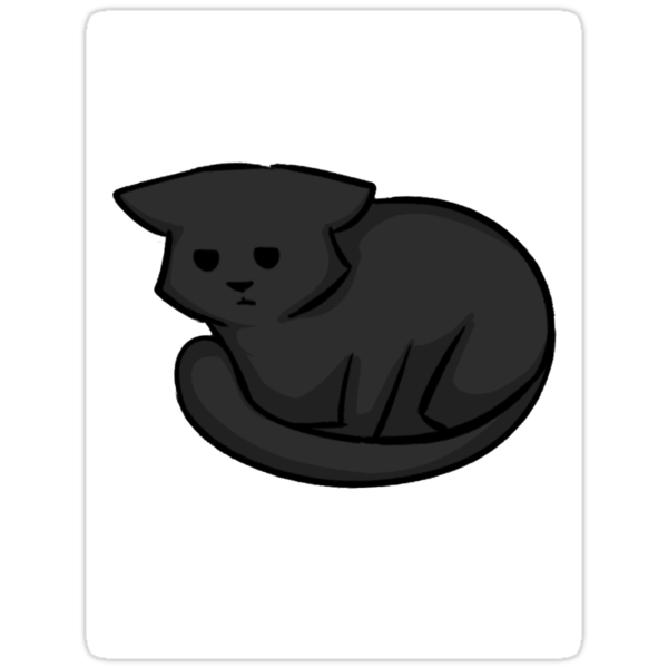 Chibi Gray Cat Sticker by exoticcheese