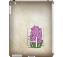 H is for Hyacinth - full image iPad Case/Skin
