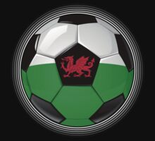 Wales - Welsh Flag - Football or Soccer by graphix