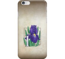 I is for Iris iPhone Case/Skin