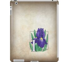I is for Iris - full image iPad Case/Skin