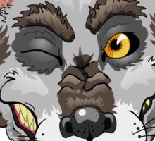 Just a Drooly Werewolf Sticker