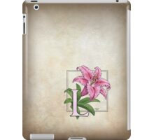L is for Lily - patch iPad Case/Skin