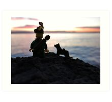 Will & Rover found something... Art Print