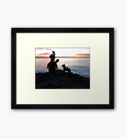 Will & Rover found something... Framed Print