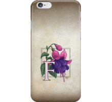F is for Fuchsia - full image shirt iPhone Case/Skin