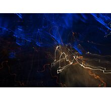 Map of moving lights  Photographic Print