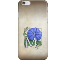M is for Morning Glory - patch shirt iPhone Case/Skin