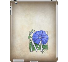 M is for Morning Glory - patch shirt iPad Case/Skin