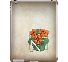N is for Nasturtium iPad Case/Skin