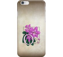 O is for Orchid iPhone Case/Skin