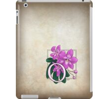 O is for Orchid iPad Case/Skin
