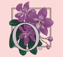 O is for Orchid card Kids Clothes