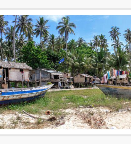 Remote Indonesian Island Village Sticker