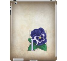 P is for Pansy card iPad Case/Skin