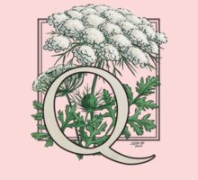 Q is for Queen Anne's Lace card Kids Clothes