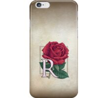 R is for Rose iPhone Case/Skin