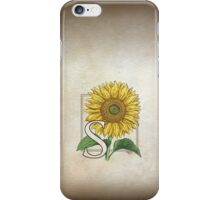 S is for Sunflower - patch iPhone Case/Skin