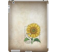 S is for Sunflower - patch iPad Case/Skin