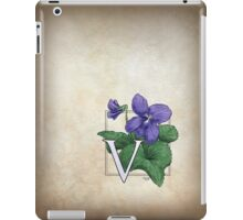 V is for Violet iPad Case/Skin