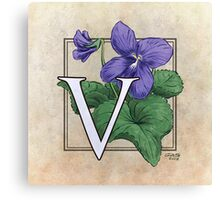 V is for Violet Canvas Print