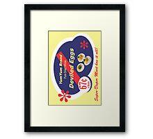 Yum Yum Deviled Eggs Framed Print