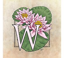 W is for Water Lily  Photographic Print