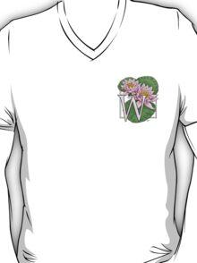 W is for Water Lily Card T-Shirt