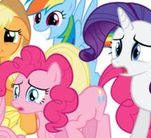 (Most of) The Mane Six are Disgusted Sticker
