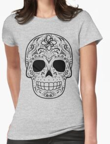 Sugar Skull - Traditional Womens Fitted T-Shirt