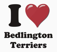 I Heart Bedlington Terriers by HighDesign